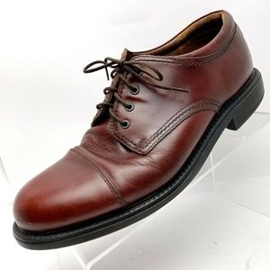 Dockers Mens 10 W Brown Cap Toe Leather Oxford
